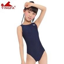 Yingfa yarış çocuk tek parça mayolar çocuklar kız mayo spor bebek mayo Bathers eğitim yarışması için