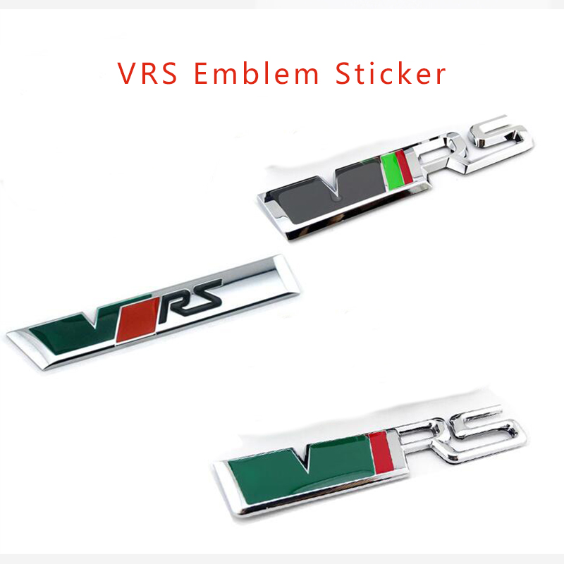 Hot selling 1Piece Boot Metal 3D VRS Logo Car Sticker Auto Truck Emblem Chrome Badge Sticker for the car whole body