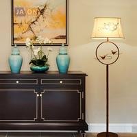 led e27 Chinese Iron Bird Fabric LED Lamp LED Light LED Floor Lamp Floor Light For Foyer Dinning Room Bedroom