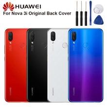 Original Glass Battery Rear Case For Huawei Nova 3i Back Cover Phone Backshell Cases