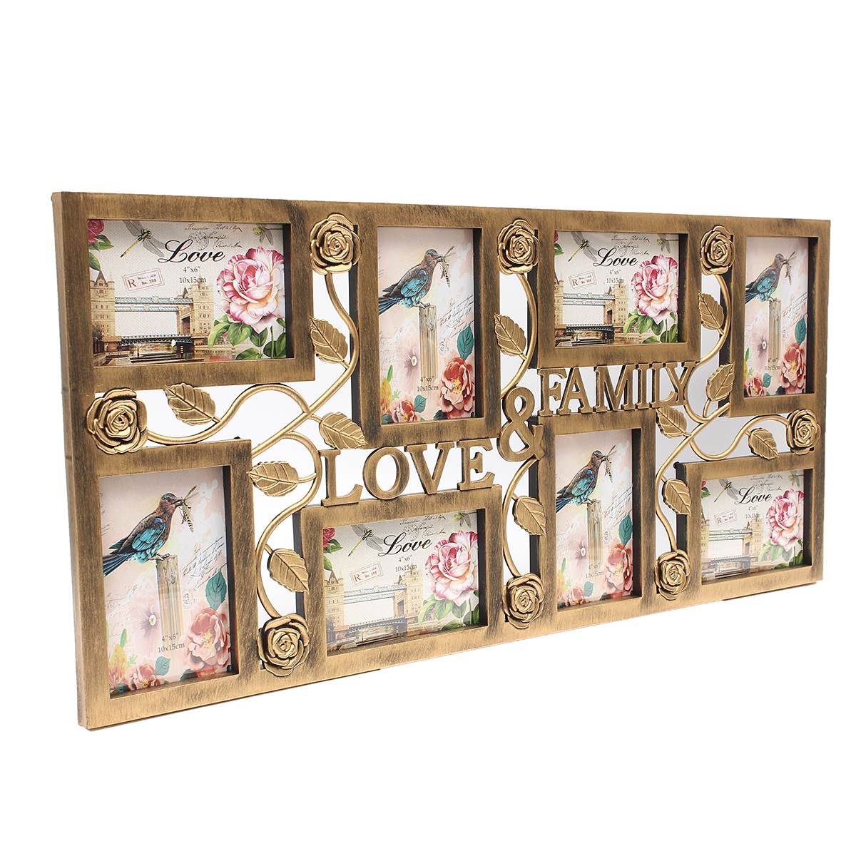 8 picture photo frame family love large multi wall hanging collage baby shower wedding birthday gift for home wall decoration