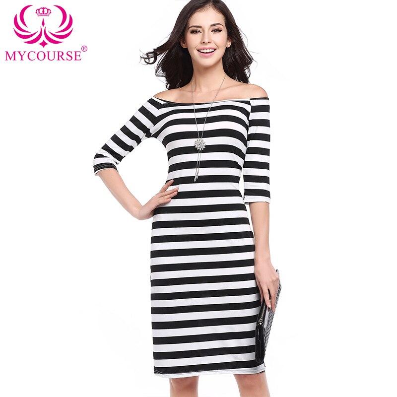 Sale Shoulder Bodycon Open Casual Dress Striped eaton centre