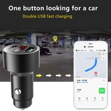 Car GPS Tracker Locator Real Time Tracking Device Dual USB Car Charger Voltmeter Compact Lightweight Space Saving Portable