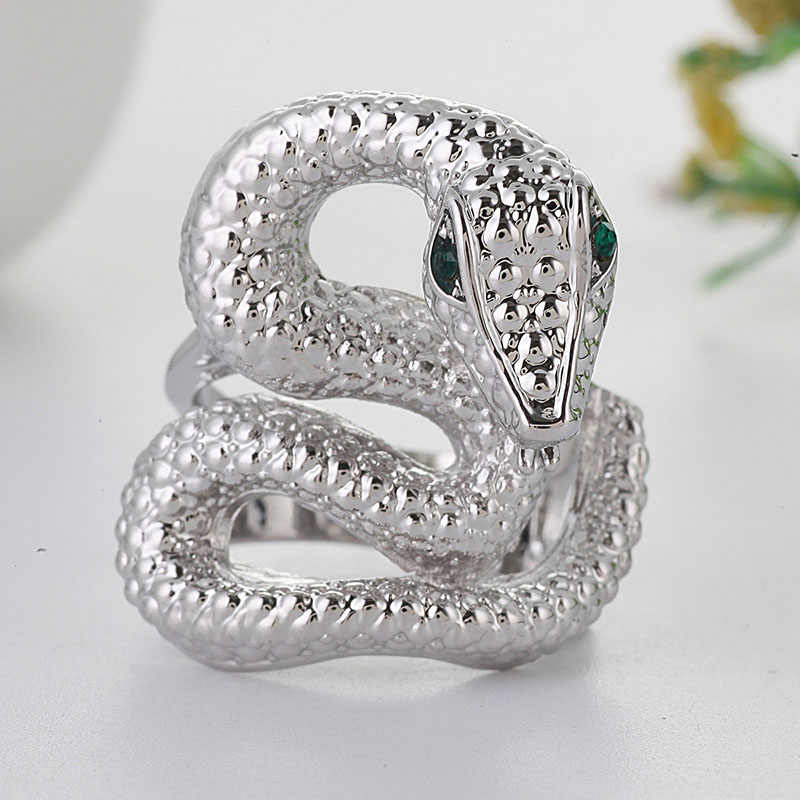 แฟชั่นแหวนงูแหวนแฟชั่นออกแบบเครื่องประดับคุณภาพสูง 1 Pcs Punk Party อินเทรนด์อุปกรณ์เสริม Z5X570