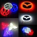 1 * Стайлинга Автомобилей Моды 4D LED Логотип Знак Эмблемы Стикер Свет Задний Фонарь Для Honda/Фольксваген/Mitsubishi/Suzuki/Mazda3 6 CX-5