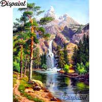 """Cuadro de diamante DIY 5D cuadrado completo/taladro redondo pintura """"paisaje natural de montaña"""" bordado punto de cruz 5D hogar decoración A10750"""