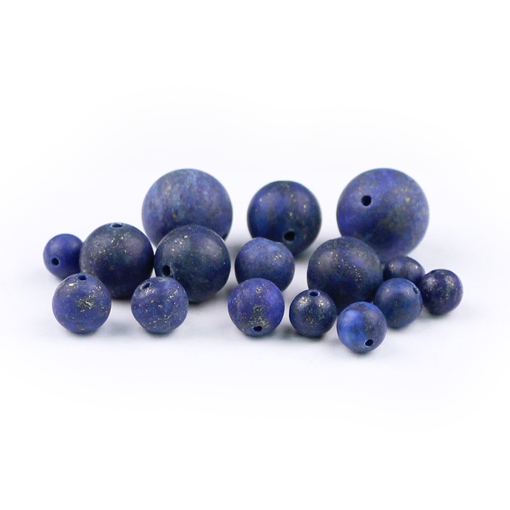 BTFBES Natural Matte Lapis Lazuli Stone Beads Blue Color Ore Ball 4 6 8 10 12mm Round Loose Bead for Jewelry Bracelet Making DIY in Beads from Jewelry Accessories