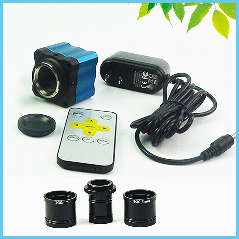 2MP Microscope Electronic Video Camera VGA Digital Eyepiece CMOS with C Ring Adapter for Win10/ 7/ Win8 microscope 2 0mp usb to pc digital electronic eyepiece camera video w adapter