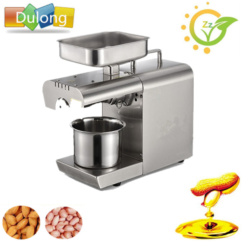 Stainless Steel Coconut Oil Press Machine Commercial Home Seed Oil Extractor Expeller Presser 110V or 220V available