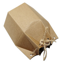 DHL Hexagon Kraft Paper Box For Boutique Gift Packaging Box Wedding Party Favor Gift Candy Chocolate