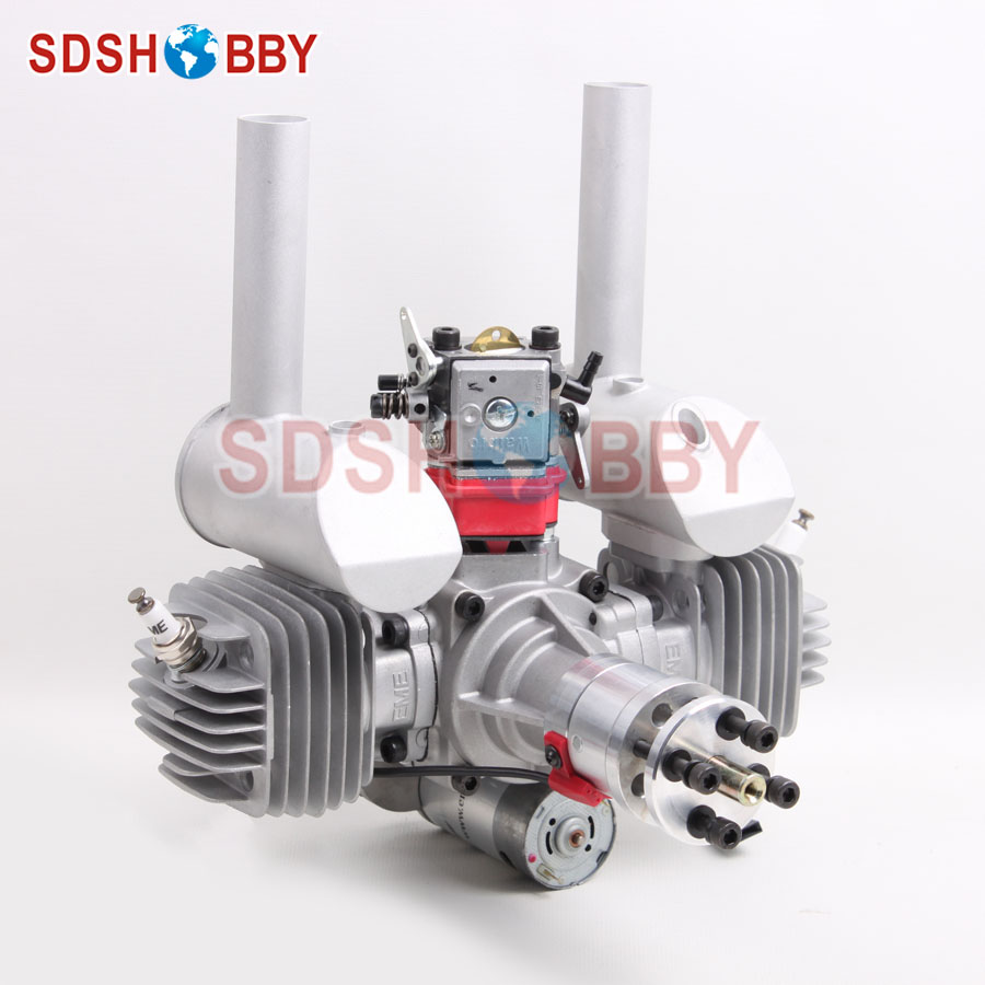 EME70 70CC RC Gasoline Engine Petrol Engine with Electric Starter Walbro Carburetor dla58 cnc processed gasoline engine petrol engine 58cc for gasoline airplanes with walbro carburetor and nsk bearing