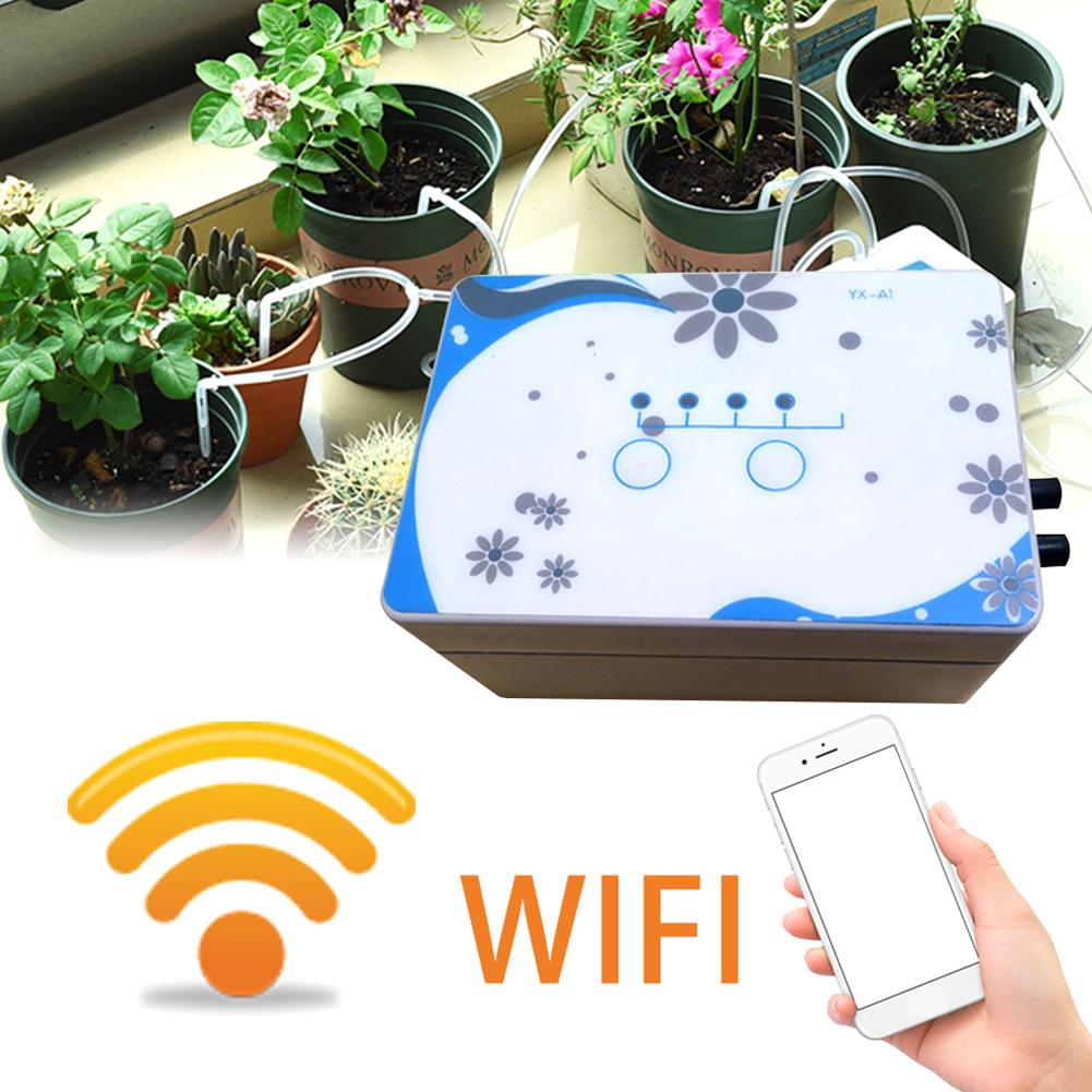 EU/US Automatic Watering Cans Device WIFI Control Garden Intelligent Irrigation Solenoid Valve Timer Watering Device Set