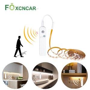 Кабинетный светильник светодиодный светильник с активированным движением 5 в PIR датчик движения USB светодиодный светильник 2835 SMD шкаф лампа ...