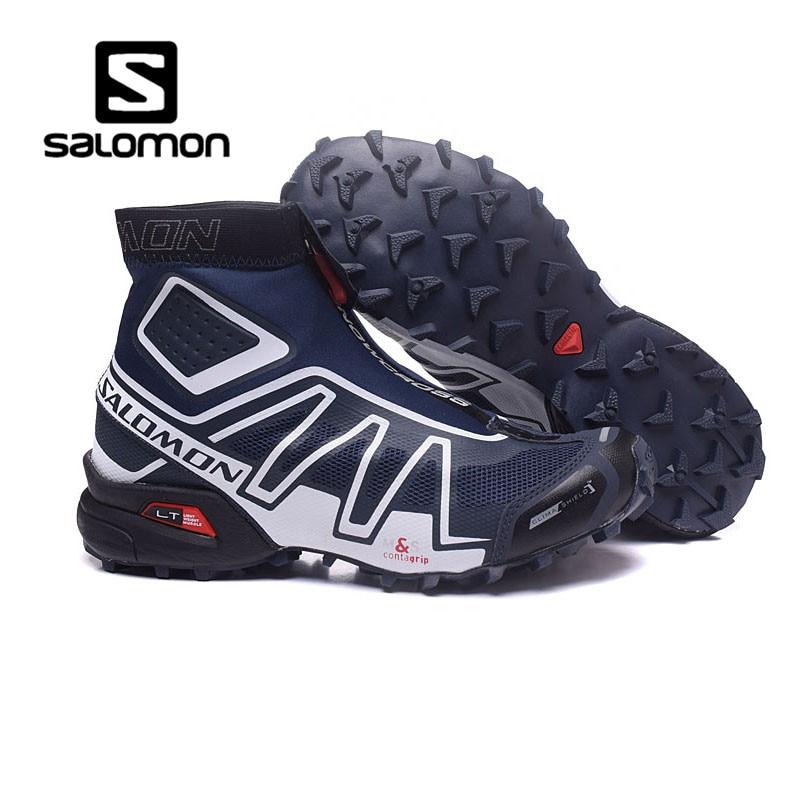 High Qualty Salomon Shoes Snowcross Sneakers Men Outdoor Sports Shoes Men Black Blue Speed Cross 3 CS Male Fencing Shoes ботинки salomon ботинки shoes shelter spikes cs wp black bk ptr
