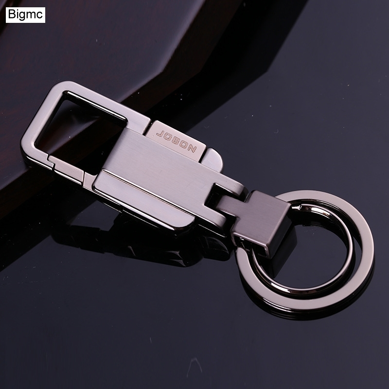 New Brands Genuine Perfect Detail Packaging Men Keychain Bag pendant Grade Metal Car Key Chain Ring Holder Jewelry K1555