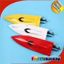 Tenshock mini mono artr rc zabawki łodzi z włókna szklanego w/silnik Śmigło Wysokiej Prędkości ESC Zdalnego Sterowania Radiowego Elektryczne Dla Dzieci dorosłych