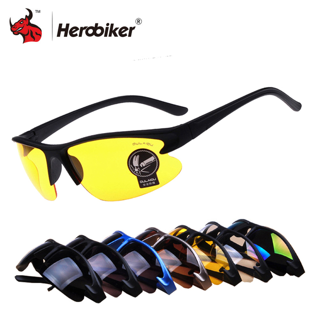 New Motorcycle Glasses Men Sunglasses Night Vision Military Tactical Glasses Motocorss UV Protection Cycling Riding Eyewear