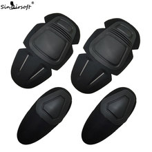 SINAIRSOFT Paintball Airsoft Combat G3 Protective Uniform Pants Tactical Knee and Elbow Protector Pads Set KNEE & ELBOW PADS
