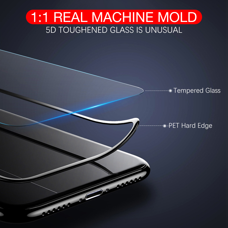 Too 5D Full Coverage Tempered Glass For iPhone X 8 7 Plus 360 Degree Screen Protector Glass Film For iPhone 6 6s Plus 5D Curved in Phone Screen Protectors from Cellphones Telecommunications