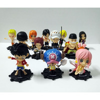 6pcs Set One Piece Anime Figures Shirahoshi Law Nami Luffy Zoro Joe Collectable PVC Model Toys