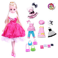 Lelia doll kawaii cute Simulation Dolls for girls Set Gift Box Dress up Princess girl baby pretend play toy for Children Toys