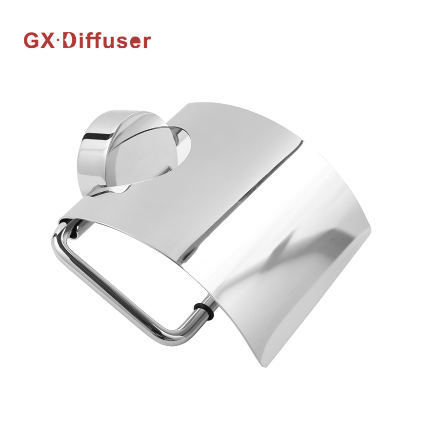 Paper Toilet Holder Stainless Steel Bathroom Hardware Toilet Holder with Wider Cover and Strong Suction Base GX Diffuser luxury golden color toilet paper holder wall mounted roll toilet paper rack with cover bathroom accessories free shipping 3308