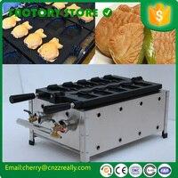 Commerciale mini elettrico lolly waffle maker macchina per fare le cialde commerciale per la vendita Giapponese taiyaki maker-gas con 5 pesci
