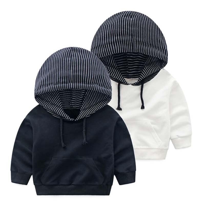 2018 весенняя куртка для мальчиков детская верхняя одежда милые полосатые ветровка с капюшоном пальто из хлопка для мальчиков куртки детские...
