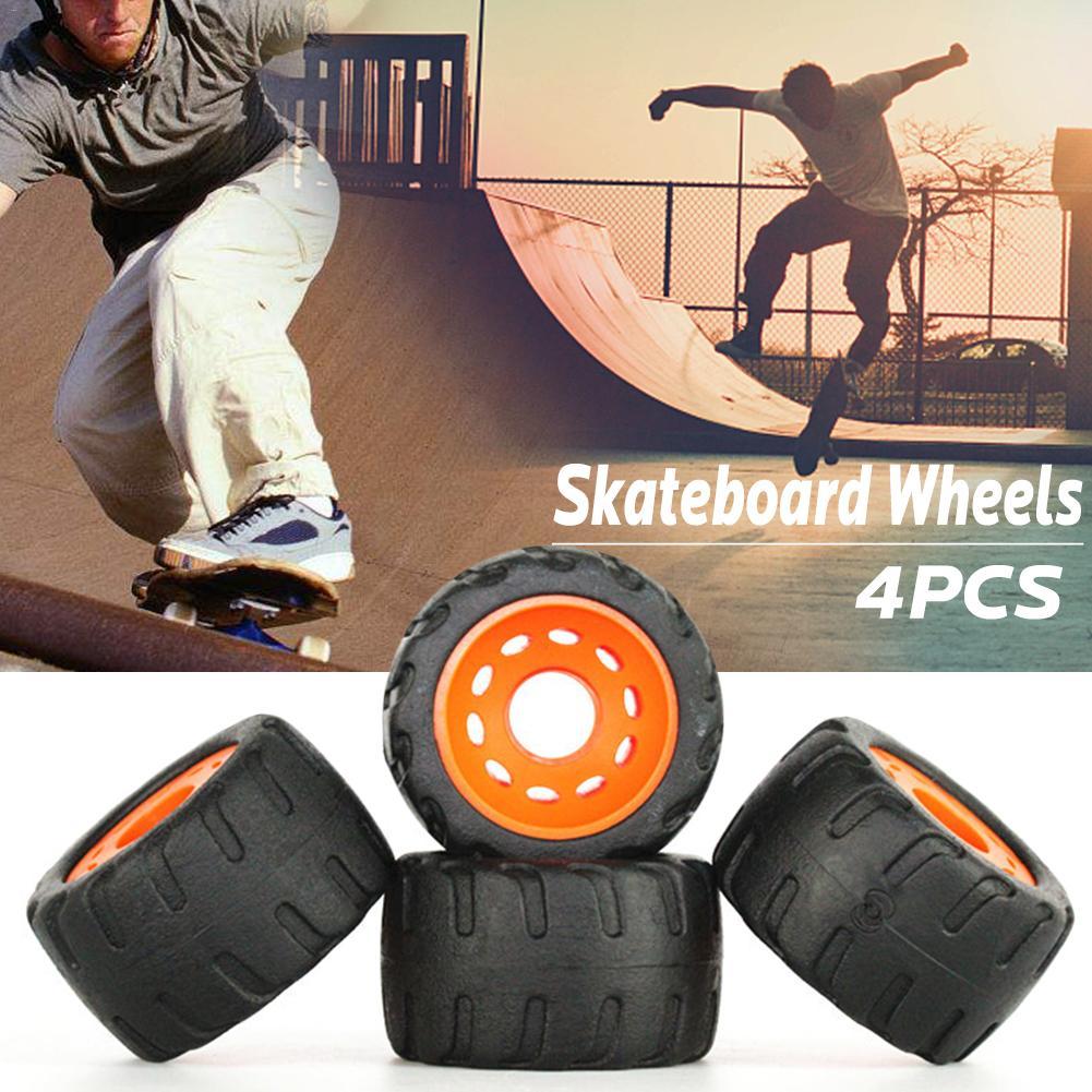 4 Pcs/lot Durable Pu Skateboard Wheels 76mm*45mm Anti-vibrate For Flat-plate Single Double Rocker Skate Board Skating Roads 2019 Latest Style Online Sale 50%