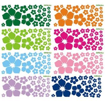 Creative multicolore fleurs mur autocollant canapé TV fond chambre décoration de la maison Art Mural autocollants papier peint