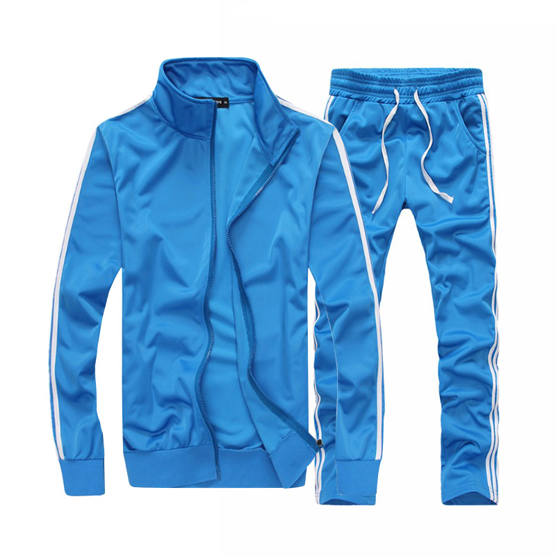 Hommes mode ensembles survêtement de sport hommes 2018 automne deux pièces Zipper sweat + pantalon sport costume hommes 50009