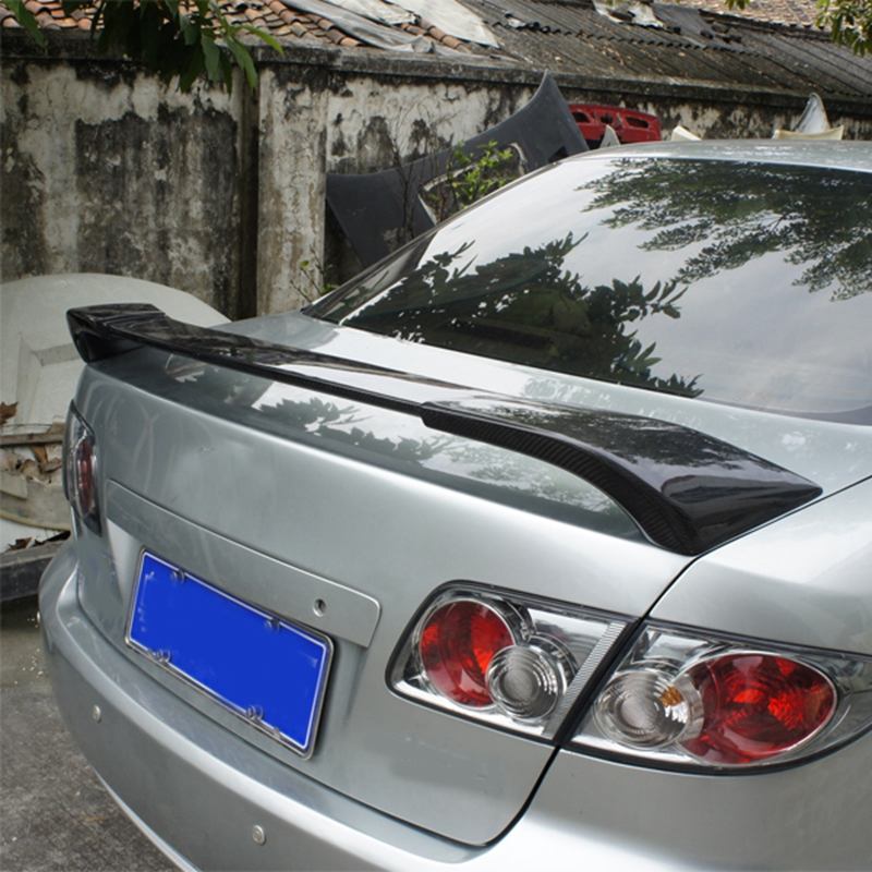 Carbon Fiber Exterior Rear Spoiler Tail Trunk Boot Wing Decoration Car Styling For Mazda 6 2003