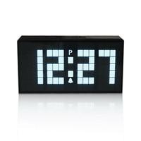 Hot Sale Fashion Design Table Clock Temperature Sounds Control Display Electronic Desktop LED Alarm Clock Room Decor