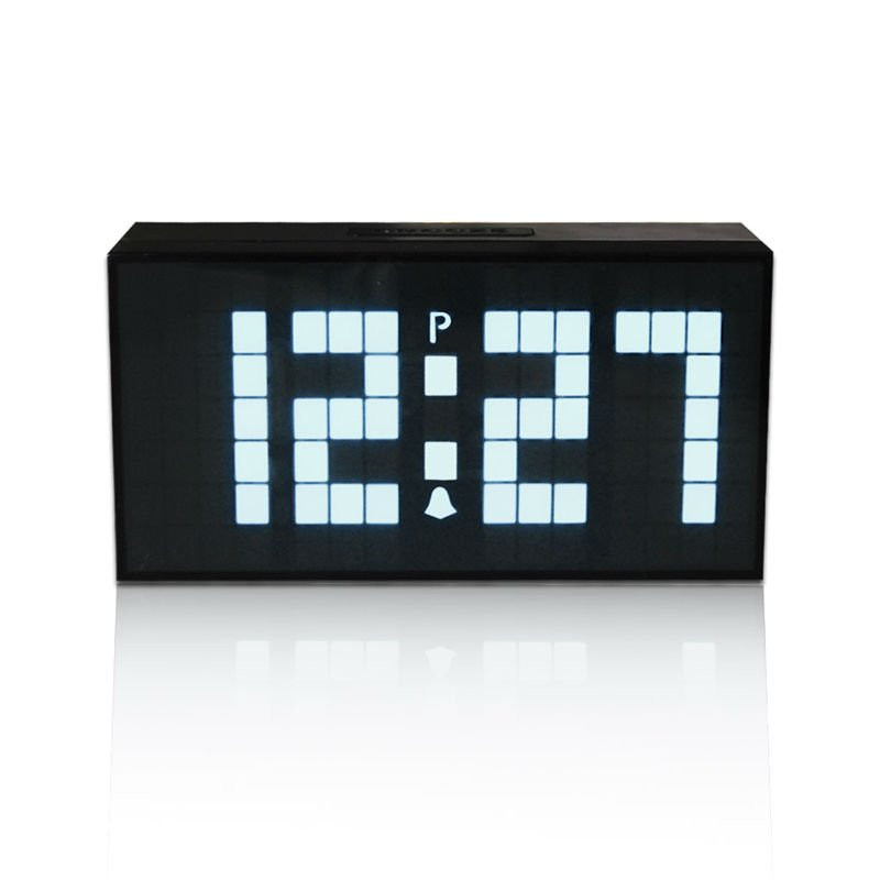 CHKOSDA LED Numérique Réveils Avec Projection De L'heure En Bois Horloge Bureau Électronique Montre Saat Station Météo Horloge De Bureau