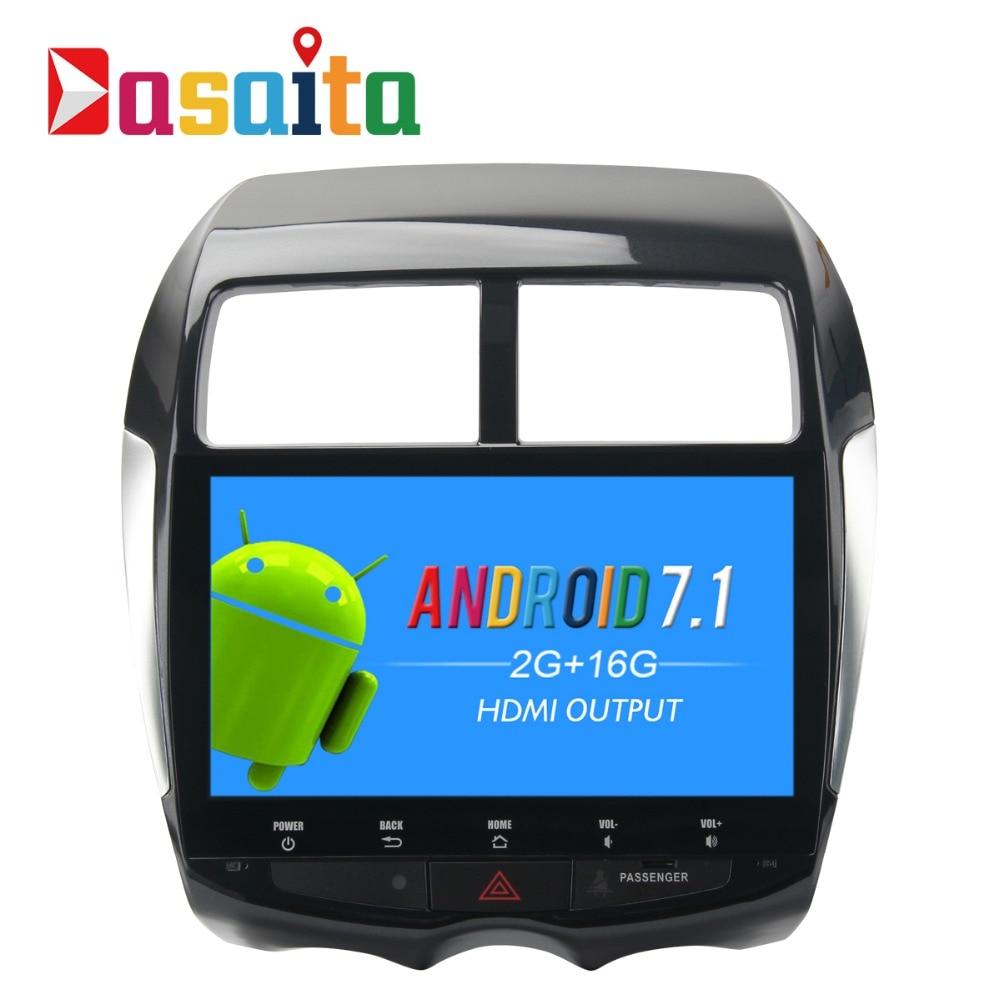 "imágenes para Dasaita 10.2 ""Android 7.1 Coche Dvd GPS Navi para Mitsubishi ASX 2010-2012 con 2G + 16G Quad Core estéreo Multimedia HDMI Sin DVD"