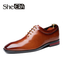 2019 New Brand Fashion British Style Leather Shoes Man Breathable Pointed Toe MenCasual Men Lace Up Oxfords For