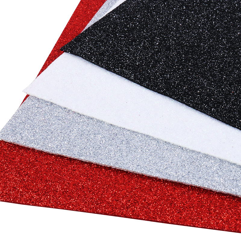 Nanchuang 1.2mm Thickness Soft Glitter Non Woven Polyester Felt For DIY Handmade Home Decoration Sewing Dolls Material 21X30cm