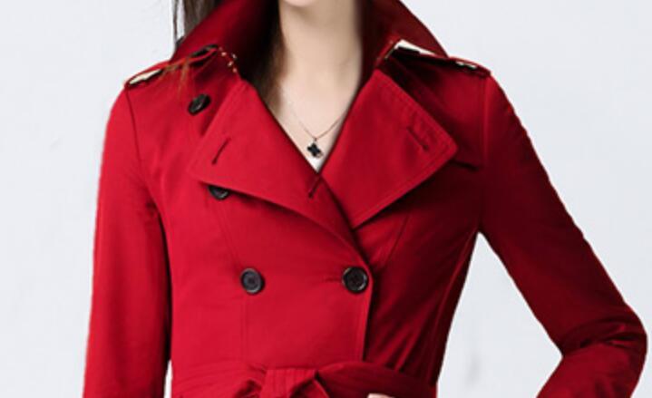 Double Mince Nouvelle S Femmes 2019 Manteau Mode rouge Chaude À Boutonnage Paragraphe 3xl Avec Tranchée Printemps Bref Noir npqqrP6X