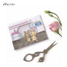 JC Rubber Stamps and Metal Cutting Dies Scrapbooking Craft Rabbit Furniture Die Cut Clear Stencil Card Making Decor Album