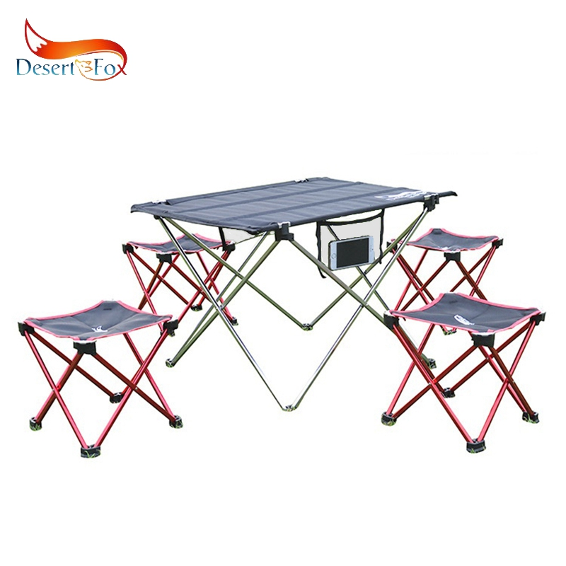 Desert&Fox Camping Foldable Chair & Stool Aluminum Alloy Outdoor Picnic DIY Chair And Table Desk Lightweight BBQ Fishing Tools