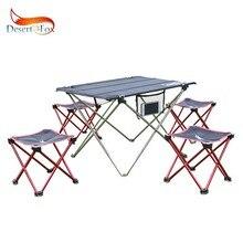 Wüste & Fox Camping Faltbare Stuhl & Hocker Aluminium Legierung Outdoor Picknick DIY Stuhl und Tisch Schreibtisch Leichte BBQ Angeln werkzeuge