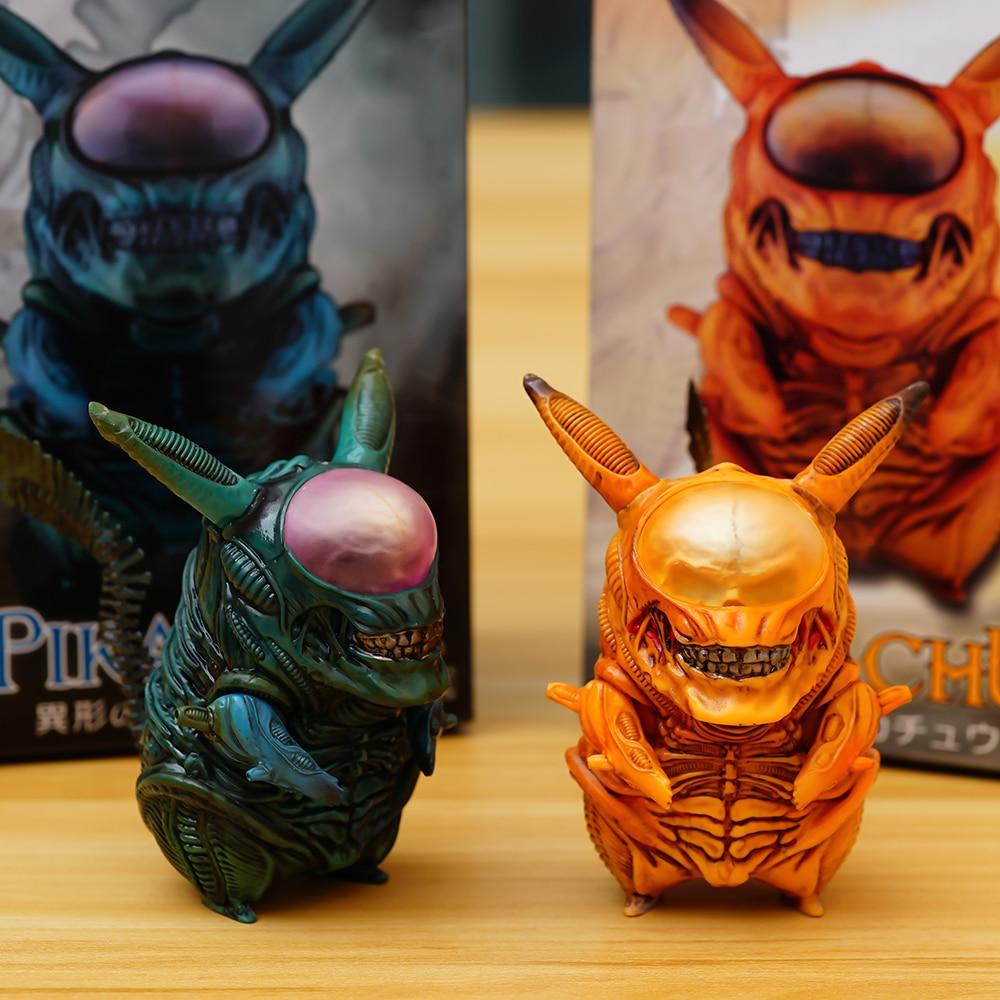 Takara Tomy Pokemon PVC Pikachu Cosplay Alien Action Figures Toys 10cm toys for children