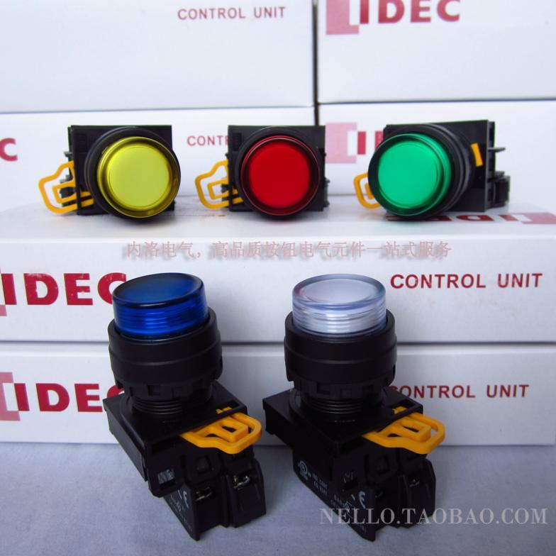 [ SA ]Japan and spring IDEC illuminated pushbutton 22mm self-locking YW1L-A2E10Q4 * DC24V LED 1NO--10PCS/LOT