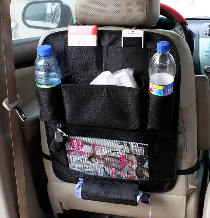 car seat organizer multi pocket arrangement bag back seat car styling car seat cover organiser. Black Bedroom Furniture Sets. Home Design Ideas