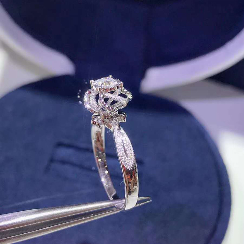 flower wedding engagement rings jewelry (5)