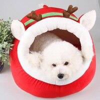 Herfst en winter Kerst rendier rood slippers vorm Hond Bed Dier Cave Nest Puppy Hondenkennel Leuke Pet Kat Hond Huis Sml