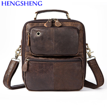 Hengsheng cheap price genuine leather men shoulder bags for ipad shoulder bags and quality cow leather men messengers bag