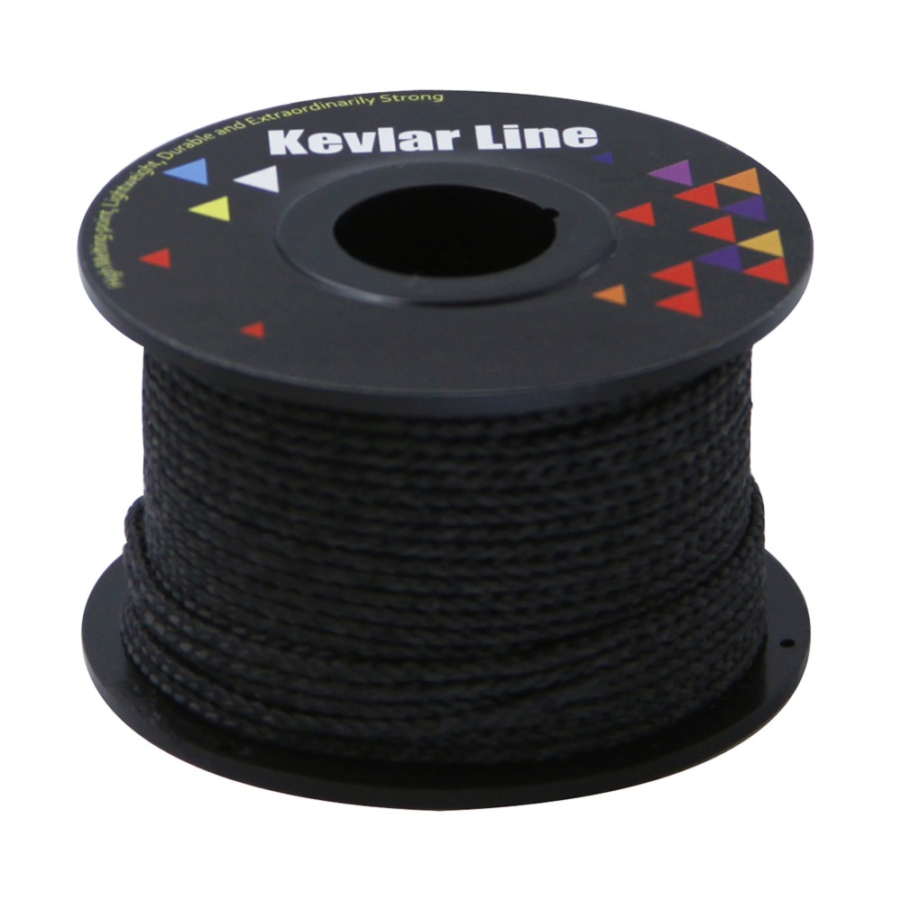 100ft 500lb Black Kevlar Line With Core Braided Fishing Line Super Strong Outdoor Flying Kite Line Rope Free Shipping 2