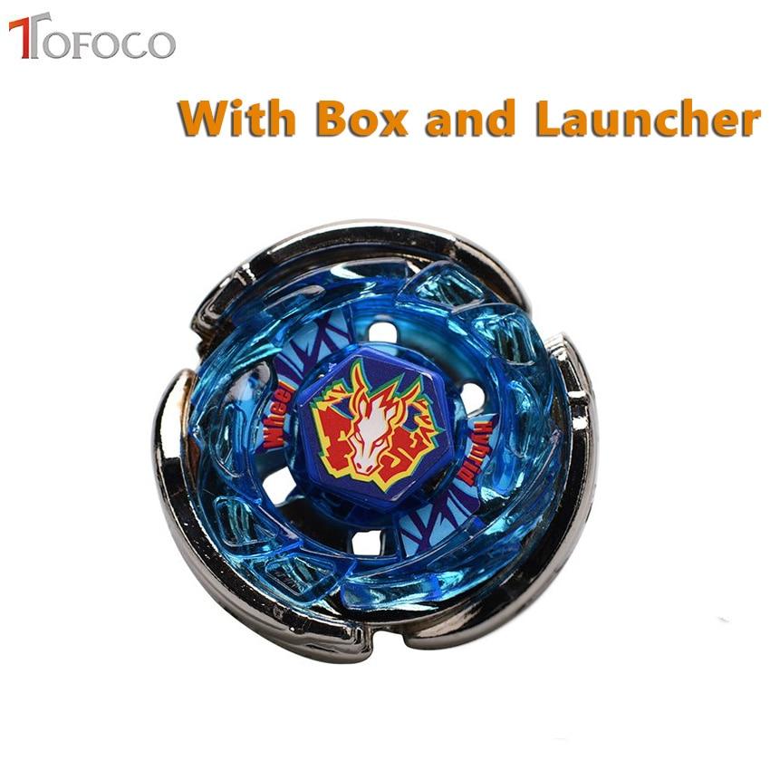 TOFOCO Genuine Tomy Beyblade Pegasus BB28 Blue Metal Fusion Beyblade Rock pegasis Spinning Top Toys