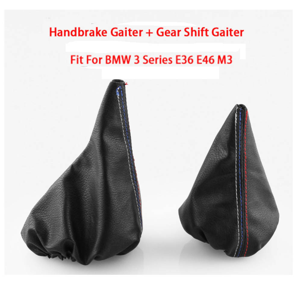 Image 5 - Car Shift Gear Stick Manual Handbrake Gaiter Shift Boot Black Leather Boot Car Styling For BMW 3 Series E36 E46 M3-in Gears from Automobiles & Motorcycles